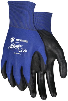 Memphis Ninja Lite Glove Coated Palm & Reflective Fingertips-21-Gauge-Small