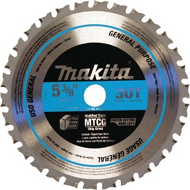 "Makita 5-3/8"" 30T Carbide-Tipped Saw Blade"