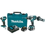 Makita 18V 4.0Ah LXT Lithium-Ion Brushless Cordless Combo Kit - 2 pc.
