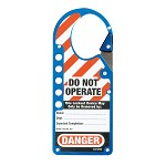 Master Lock Labeled Snap-On Blue Hasp