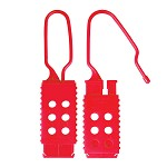 Master Lock Plastic Non-Conductive Red Safety Hasp