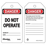 Master Lock White Danger Do Not Operate White Tag - 36 pk.