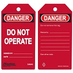 Master Lock Red Danger Do Not Operate Red Tag - 36 pk.