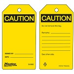 Master Lock Yellow Caution Write Own Message, Erase, Repeat Tag - 36 pk.