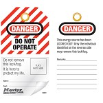 Master Lock Danger Do Not Operate English Self Laminating Lockout Tag - 12 pk.