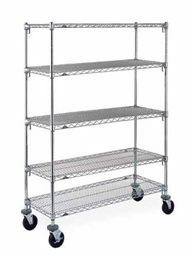 "Metro 18 x 36"" Super Adjustable Super Erecta Stem Caster Cart-5 Shelf"