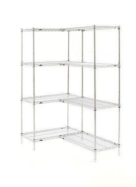 "Metro 21 x 36"" Super Erecta Shelving Add-On-4 Shelf-Brite"