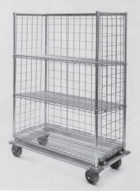 "Metro 24 x 48"" Slanted Shelf Truck-3 Shelf-Heavy Duty"