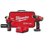 Milwaukee M12 Fuel Surge Hammer Driver/Drill 2 pc. Combo Kit