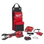Milwaukee M18 Force Logic 6T Utility Crimper Kit with D3 Grooves and Fixed BG Die