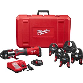 "Milwaukee M18 Force Logic Press Tool Kit with 1/2"" - 2"" Jaws"