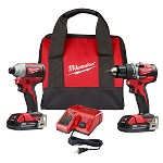 Milwaukee M18 Compact Brushless Drill Driver/Impact Driver Combo Kit