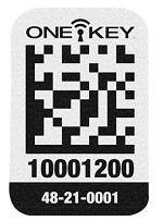 Milwaukee One-Key Asset ID Tag with Small Plastic Surface - 200 pk.