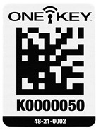 Milwaukee One-Key Asset ID Tag with Large Plastic Surface - 100 pk.