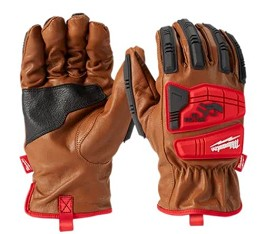 Milwaukee Impact Resistant Cut Level 3 Goatskin Leather Gloves - Size 2XL