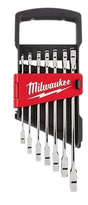 Milwaukee 7 pc. SAE Ratcheting Combination Wrench Set