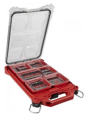 Milwaukee 100 pc. Shockwave Kit with PACKOUT Compact Low-Profile Organizer
