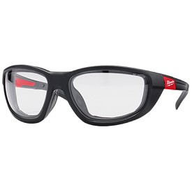 Milwaukee Clear Lens Performance Safety Glasses with Gaskets in Polybag