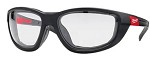 Milwaukee Polarized Lens Performance Safety Glasses with Gaskets in Blister Packaging