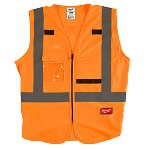 Milwaukee High Visibility Orange Safety Vest Size L/XL