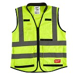 Milwaukee High Visibility Yellow Performance CSA Compliant Safety Vest Size XXL/XXXL