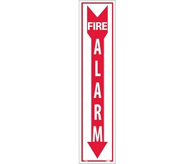 "NMC 18"" x 4"" Pressure Sensitive Vinyl Fire Alarm Sign"