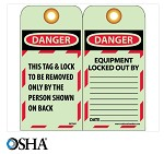 NMC Danger This Tag & Lock To Be Removed Only By… English Lockout Tag - 25 pk.