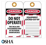 NMC Danger Do Not Operate English Lockout Tag - 25 pk.