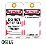NMC Danger Do Not Operate Equipment Tag-Out English Lockout Tag - 25 pk.