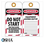 NMC Danger Do Not Start English Lockout Tag - 25 pk.