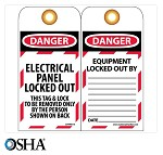 NMC Danger Electrical Panel Locked Out English Lockout Tag - 10 pk.