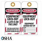 NMC Danger Equipment Lock Out English Lockout Tag - 10 pk.