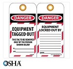 NMC Danger Equipment Tag Out English Lockout Tag - 10 pk.