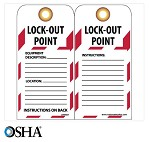 NMC Danger Lock-Out Point English Lockout Tag - 10 pk.