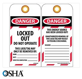 NMC Danger Locked Out English Lockout Tag - 25 pk.