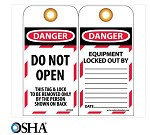 NMC Danger Do Not Open English Lockout Tag - 10 pk.