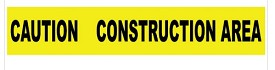 "NMC 3"" x 1000 ft Caution Construction Area Barricade Tape"