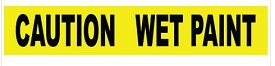 "NMC 3"" x 1000 ft Caution Wet Paint Barricade Tape"