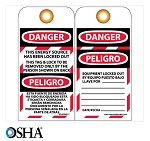 NMC Danger English & Spanish Lockout Tag - 10 pk.