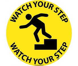 "NMC 17"" Watch Your Step Walk-On Floor Sign"