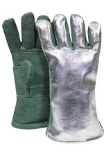 NSA Leather with 13 oz. Aluminized Leather Back Glove-13