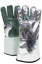 NSA Leather with Aluminized Rayon Back Glove-13