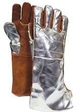 NSA Thermal Leather with Aluminized Rayon Back Glove-18.5