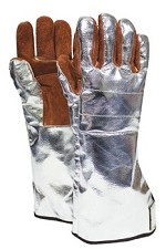 NSA Thermal Leather with Aluminized Rayon Back & Cuff Glove-16