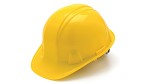 Pyramex SL Series Cap Style 4 Point Ratchet Yellow Hard Hat - 16 pk.
