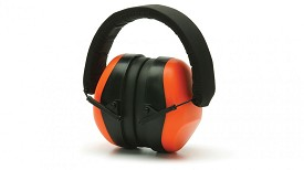 Pyramex NRR 26dB Hi-Vis Orange Earmuffs