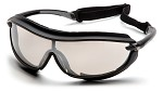 Pyramex XS3 Plus Indoor/Outdoor Mirror Anti-Fog Lens Black Padded Frame Safety Glasses - 12 pk.