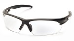 Pyramex Ionix Clear Lens Black Frame Safety Glasses - 12 pk.