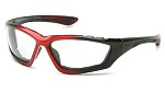 Pyramex Accurist Clear Anti-Fog Lens with Black/Red Frame Safety Glasses - 12 pk.
