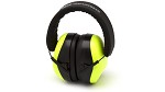 Pyramex VentureGear VG80 Series NRR 26dB Hi-Vis Lime Earmuffs in Clamshell Package